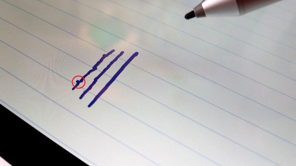 Tablet mit Stift - Zittern bei langsamen Zeichnen
